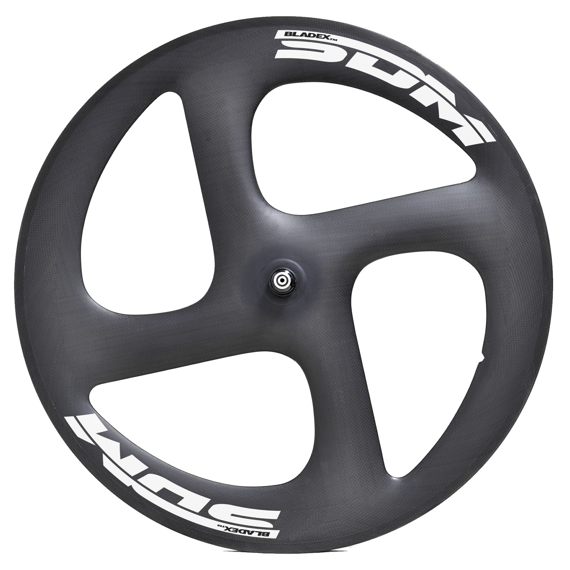 SDM 4S Carbon Wheel White Decals For Triathlon Time Trail Bike