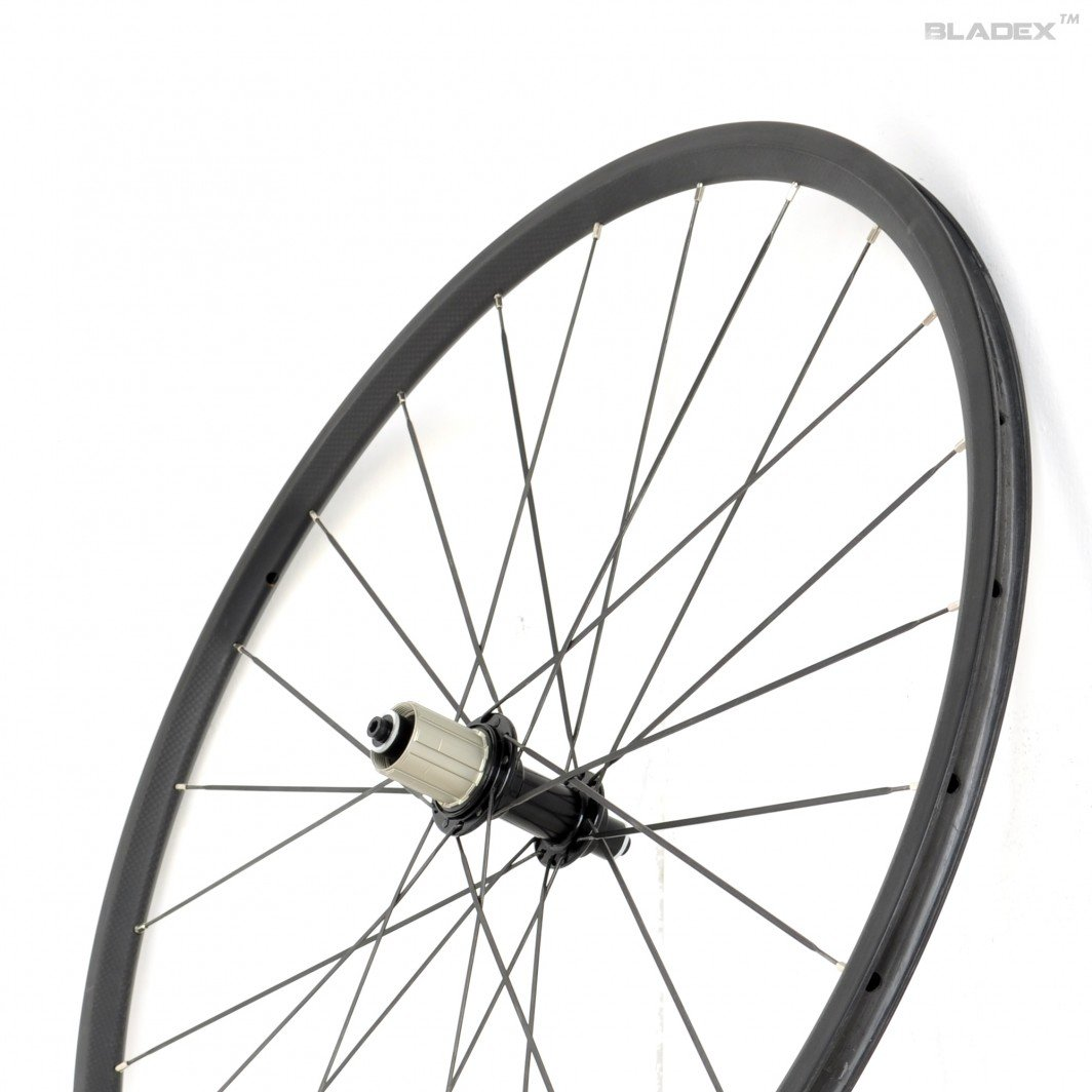24mm carbon clincher rear wheel