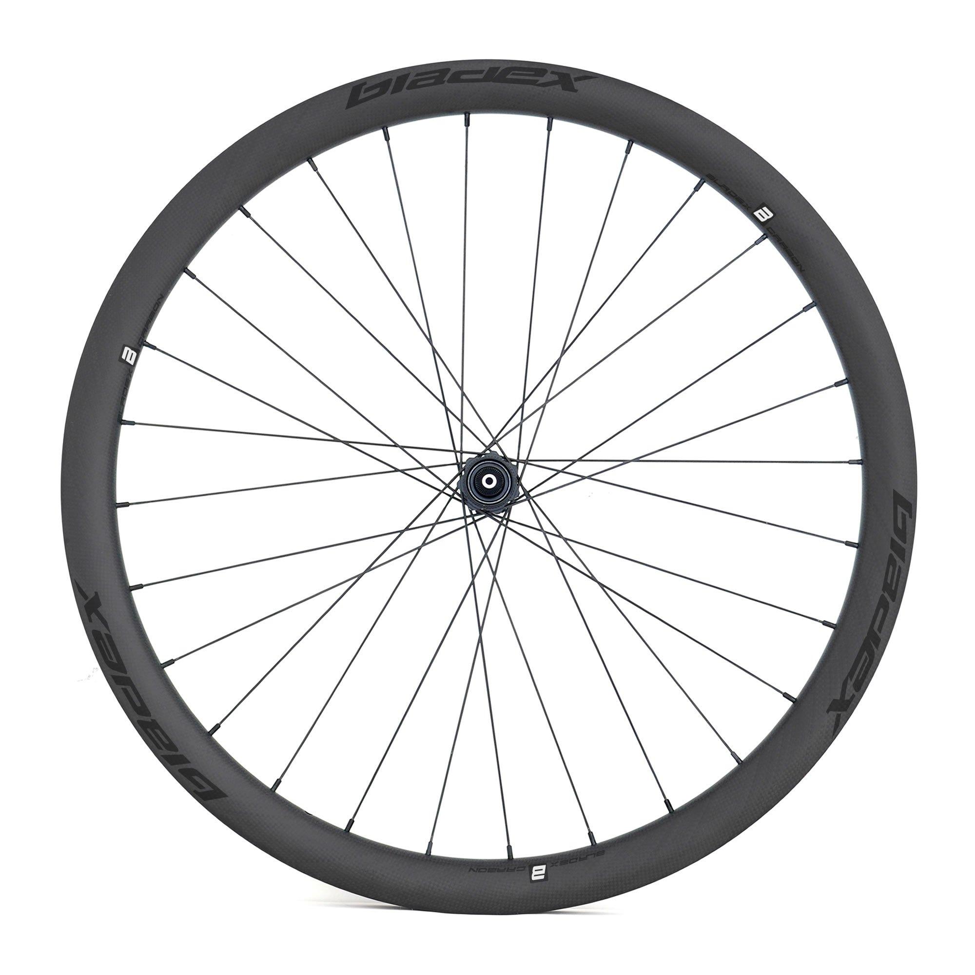 BladeX ULTIAMTE ROAD DB38 Disc Brake Road Bike Wheelset Front With Black Logo