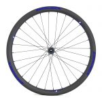 BladeX ULTIAMTE ROAD DB38 Disc Brake Road Bike Wheelset Front With Blue Logo
