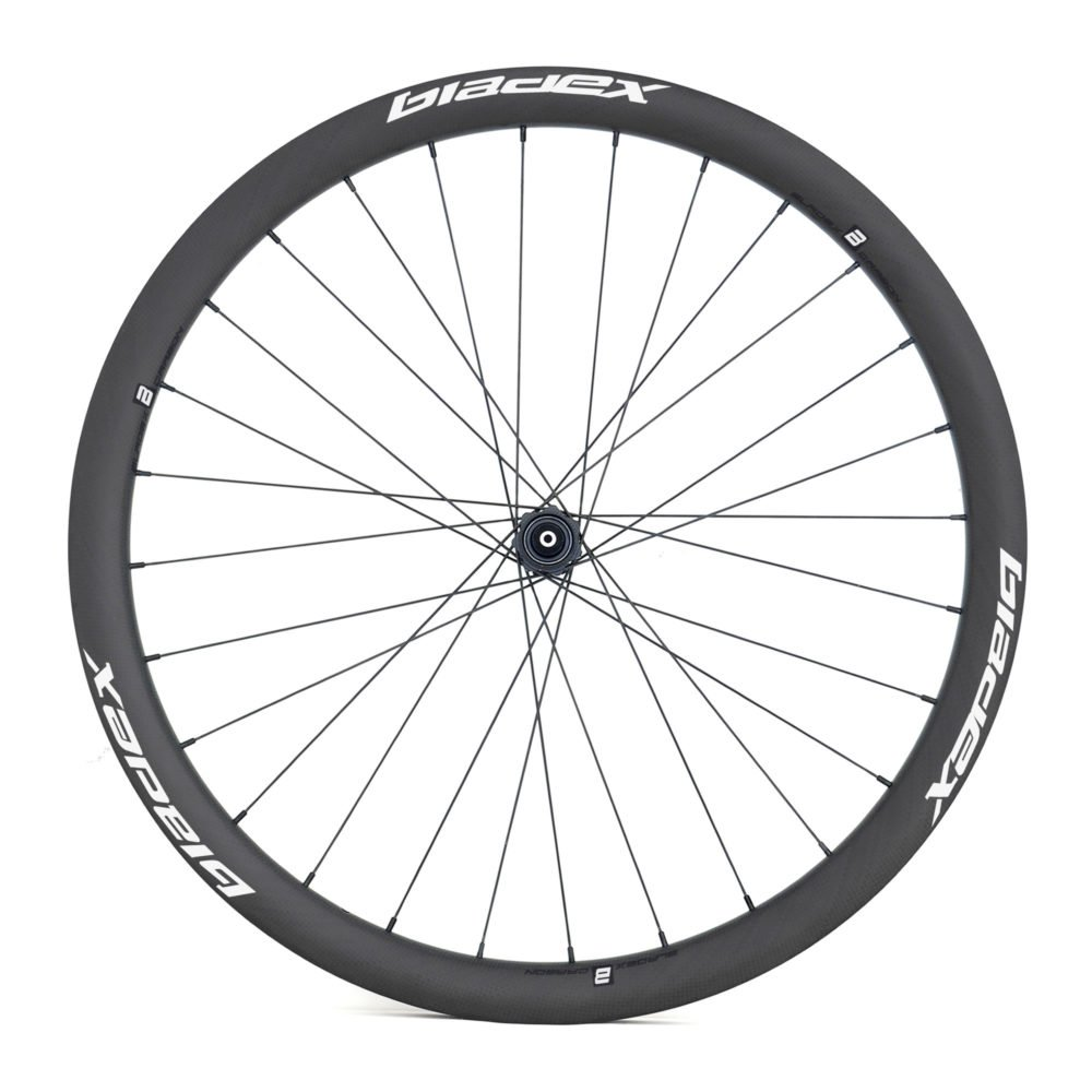 BladeX ULTIAMTE ROAD DB38 Disc Brake Road Bike Wheelset Front With White Logo