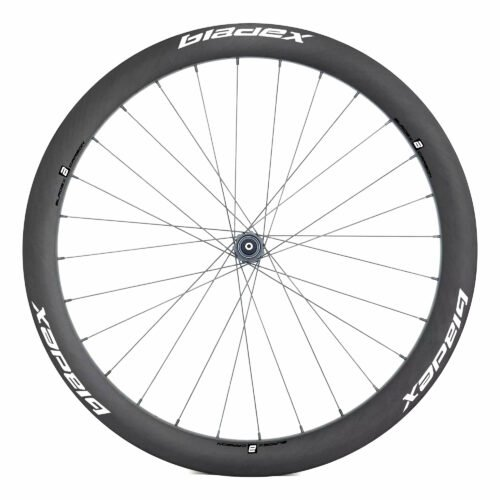 BladeX ULTIAMTE ROAD Disc Brake Road Bike Wheelset Front With Blue Logo