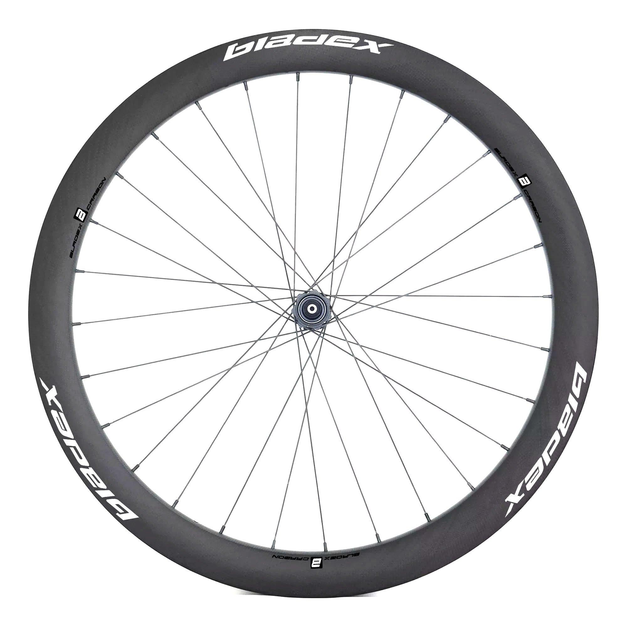 BladeX ULTIAMTE ROAD Disc Brake Road Bike Wheelset Front With Blue Logo