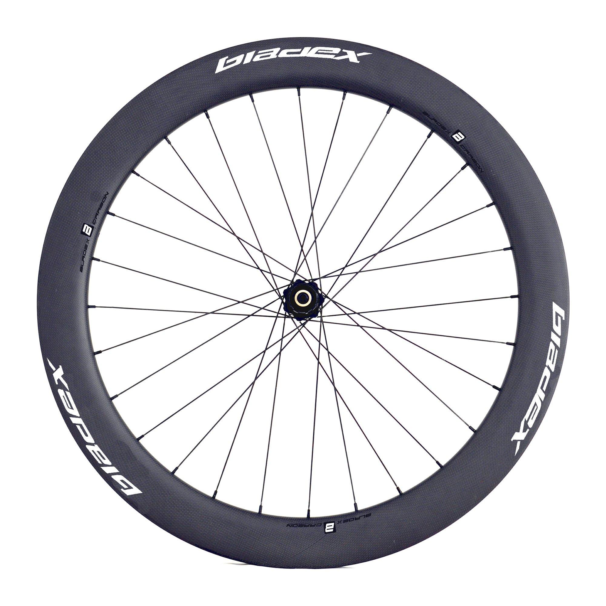 BladeX ULTIAMTE ROAD Disc Brake Road Bike Wheelset Front With White Logo