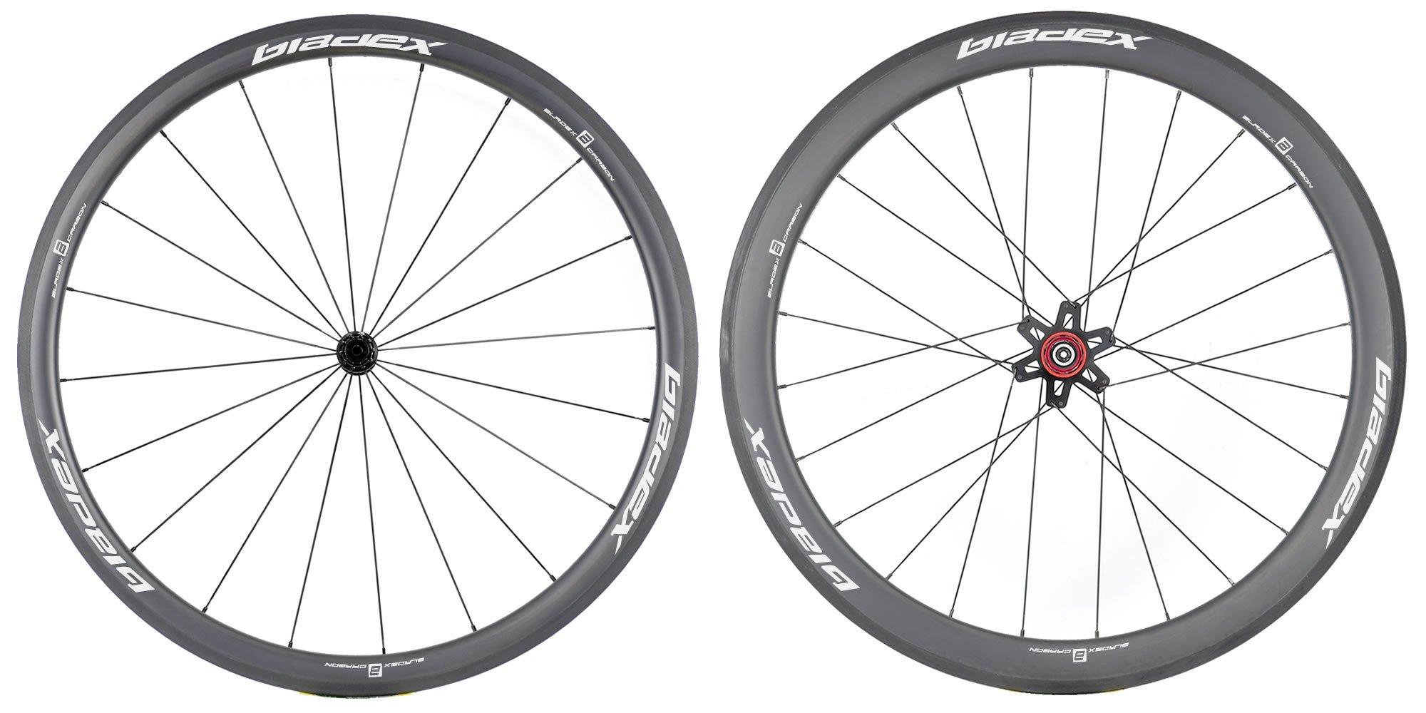 SDM 4X5 Carbon Wheelset UD Matte Classic White Logo