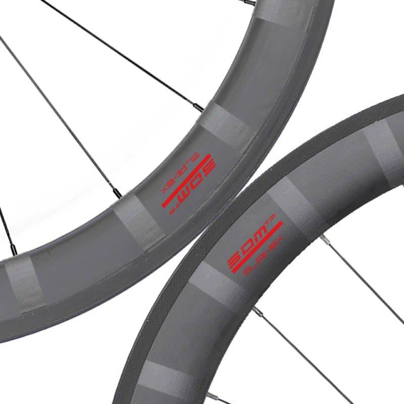 SDM 5X6 Bike Wheelset Red Decals