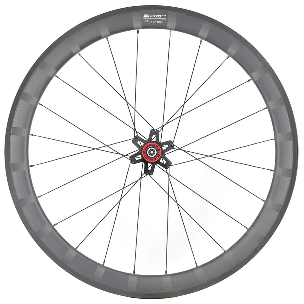 SDM 4X5 Rear Wheel UD Matte White Logo With Stripes