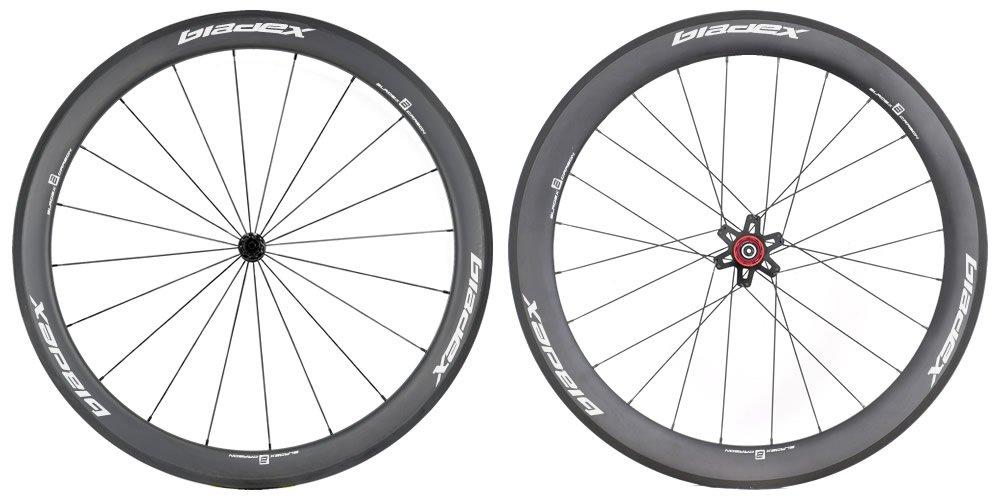 SDM 5X6 Carbon Wheelset UD Matte Classic White Logo