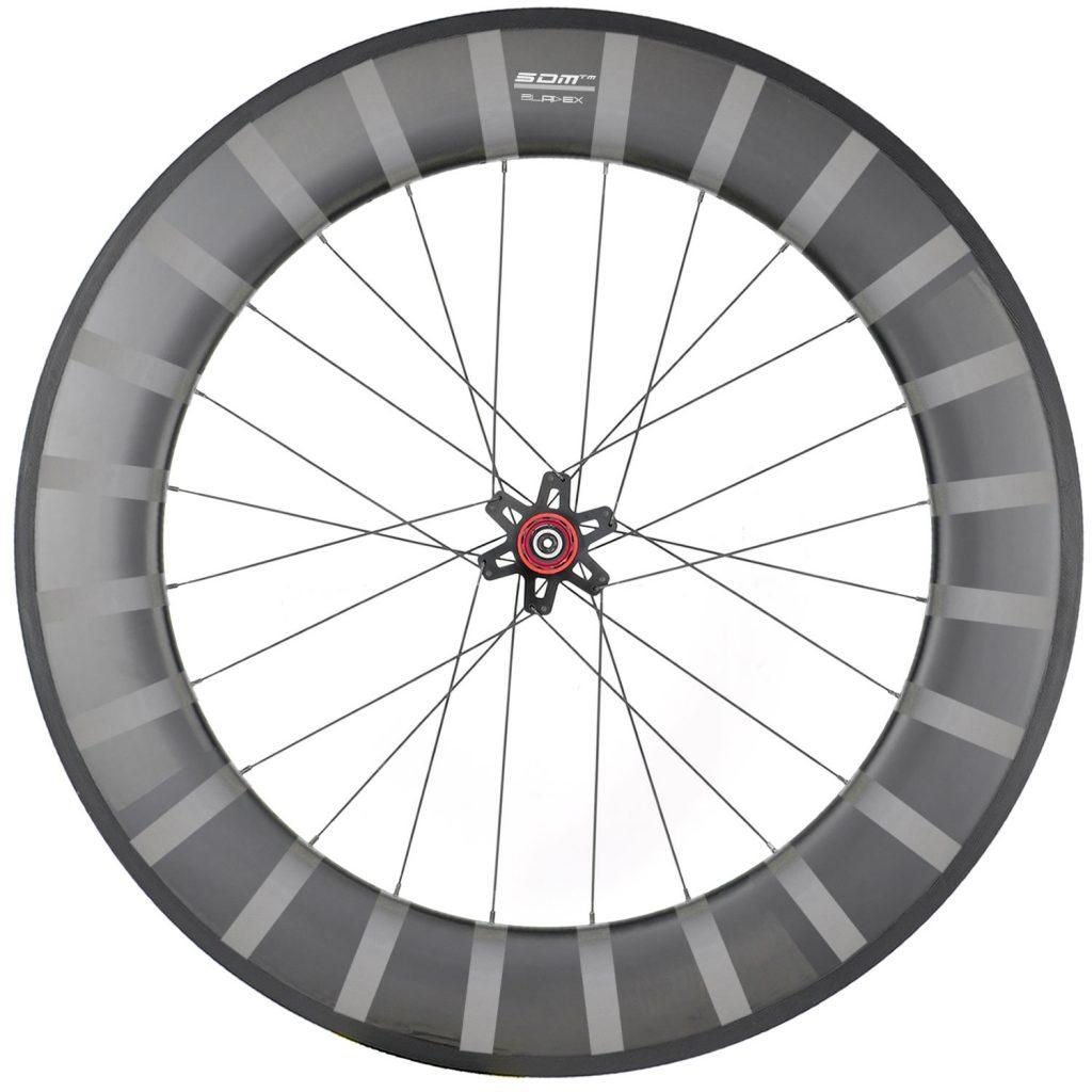 SDM 6X9 Rear Wheel UD Matte White Logo With Stripes