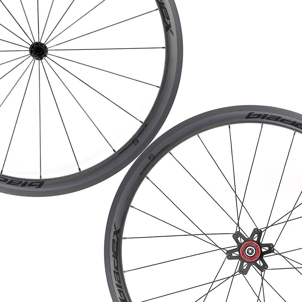 SDM 4X4 Carbon Road Bike Wheelset UD Matte Classic Black Logo