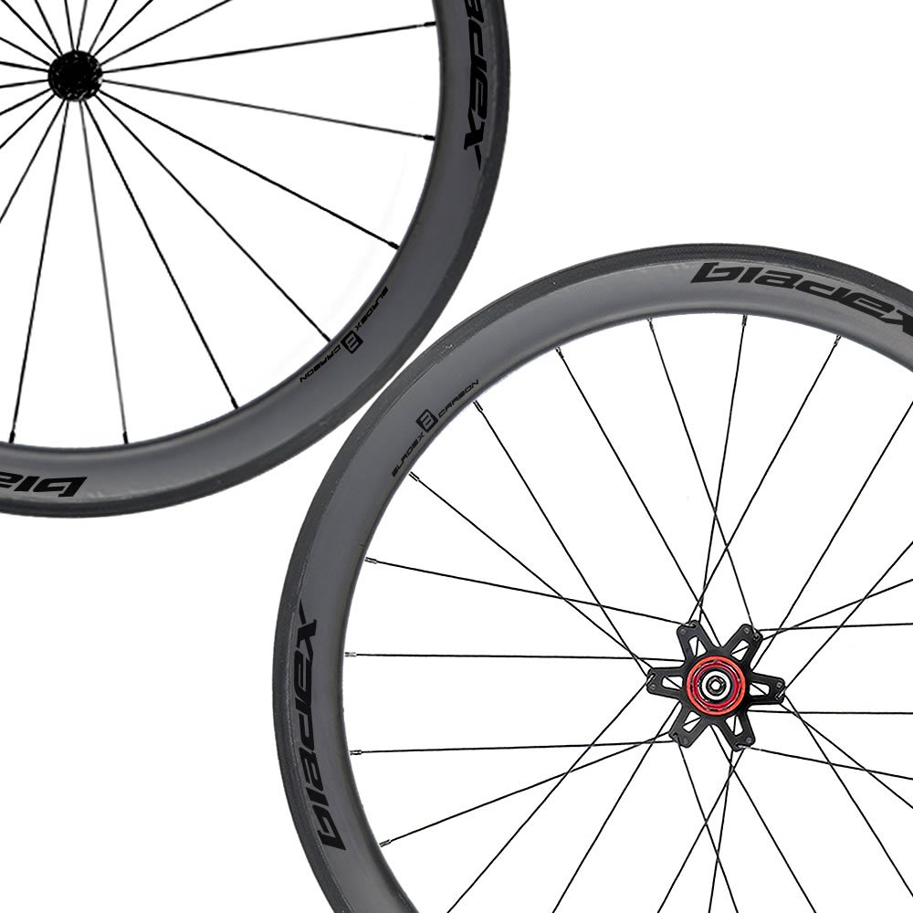 SDM 5X5 Carbon Road Bike Wheelset UD Matte Classic Black Logo