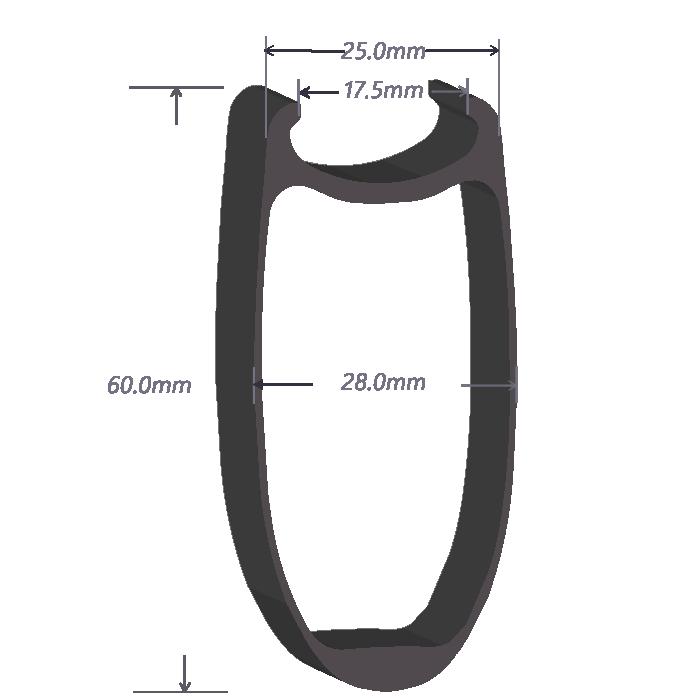 SDM 6 Carbon Rim Shape
