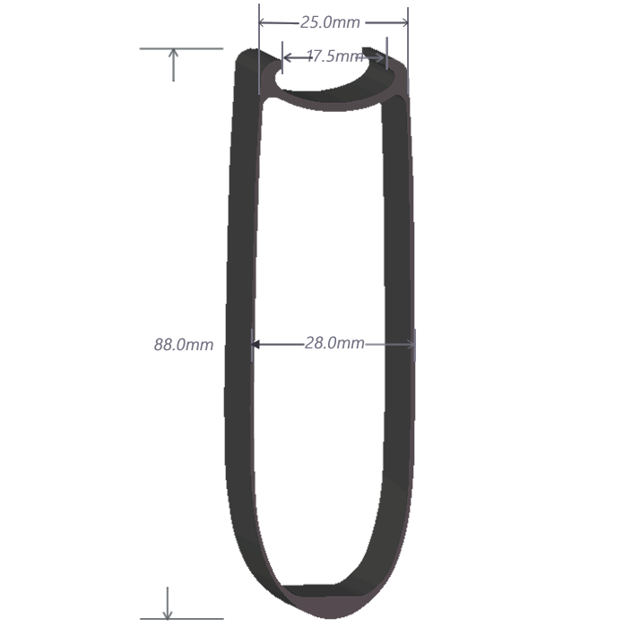 SDM 9 Carbon Rim Shape