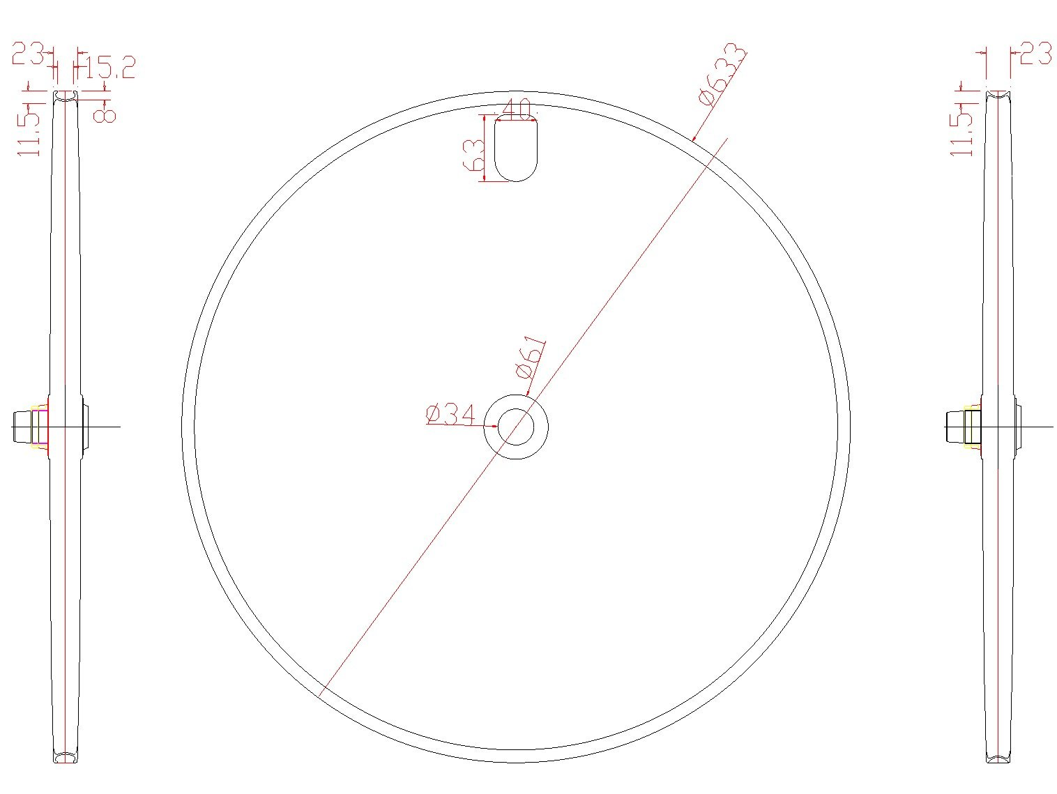 Disc Wheel Rim Shape