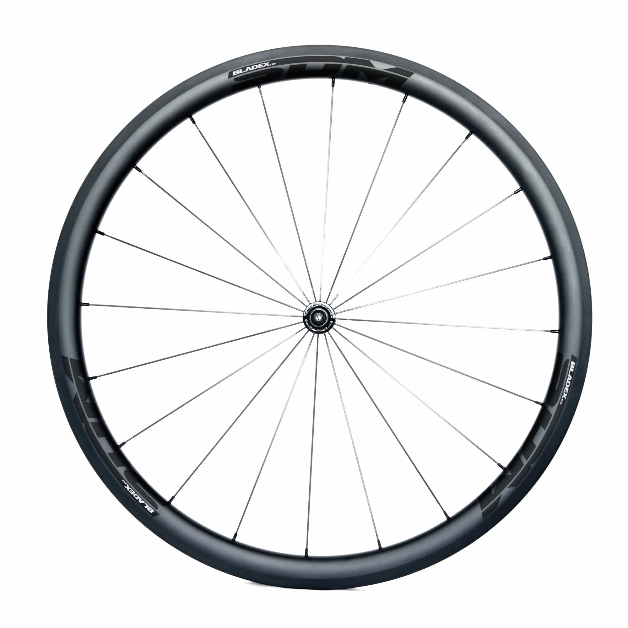 SDM 4 Carbon Road Bike Front Wheel UD Matte Classic Black Logo