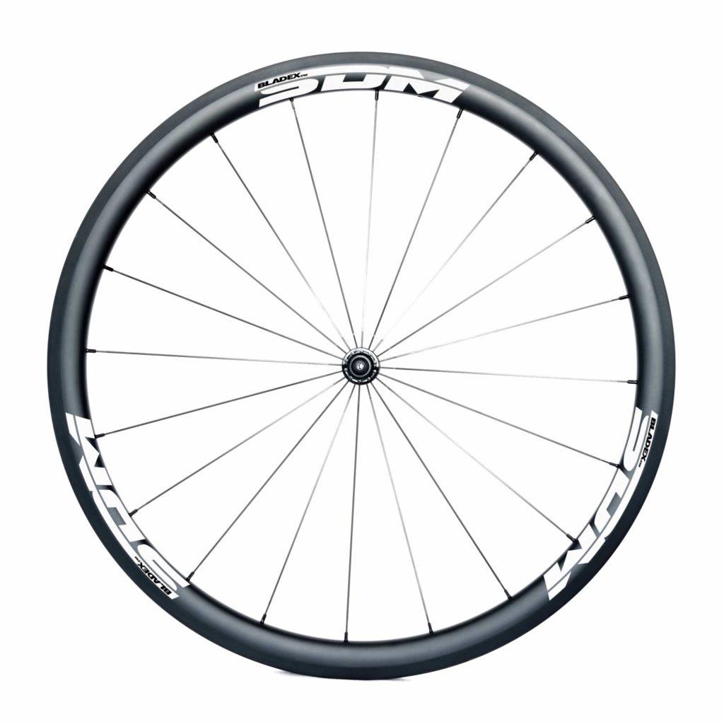 SDM 4 Carbon Road Bike Front Wheel UD Matte SDM White Logo