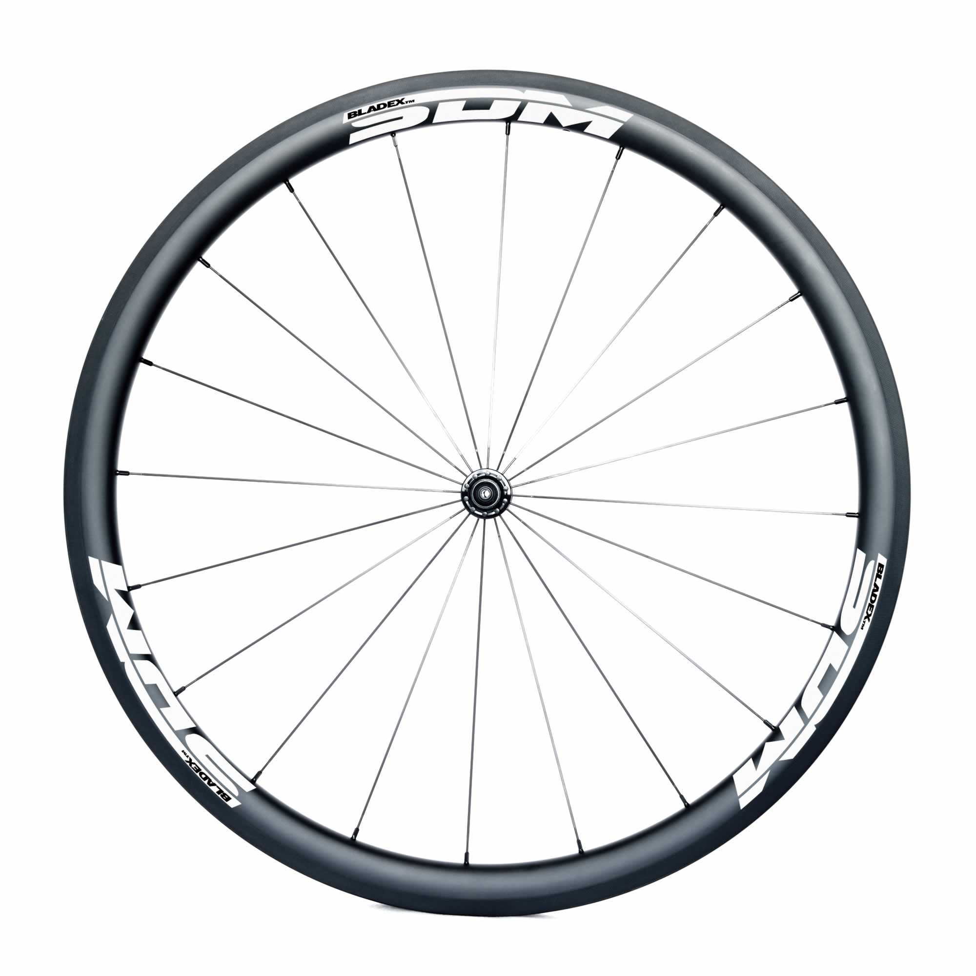SDM 4 Carbon Road Bike Front Wheel UD Matte SDM White Logo
